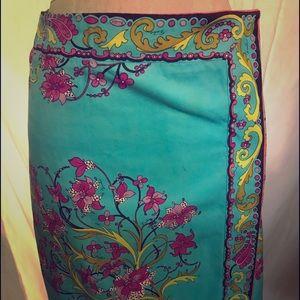 e6305681d0 Vintage Floral Emilio Pucci Patterned Skirt